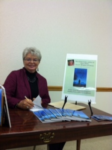 Signing books after a speaking engagement at a dear college friend's church!