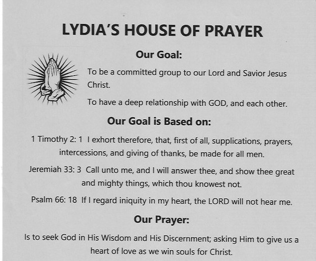 Lydia's House of Prayer poster